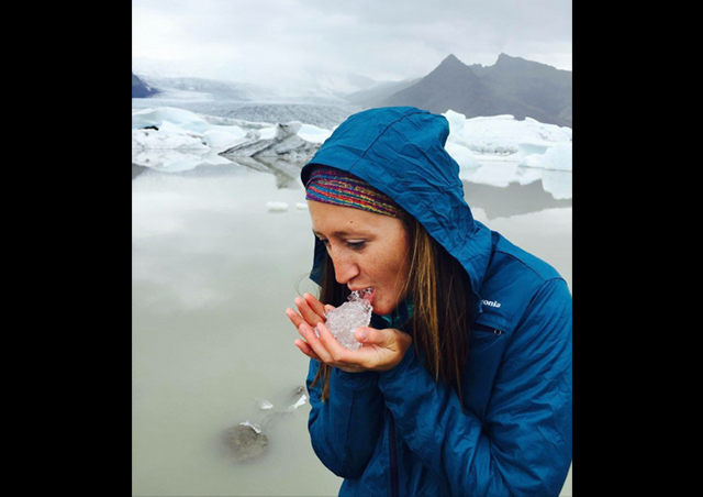 Icelandic glacial ice looked pretty cool, and tasted better!