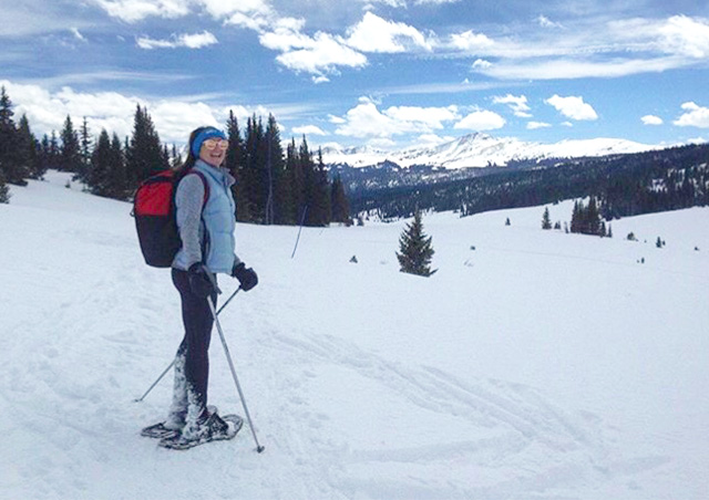 Traveling locally by snowshoe in the Colorado Rockies!