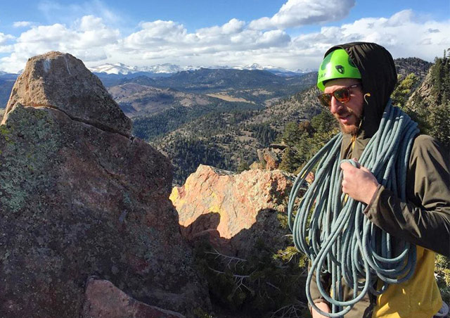 Topping out the highest peak in El Dorado Canyon State Park after a fun and adventurous climb.