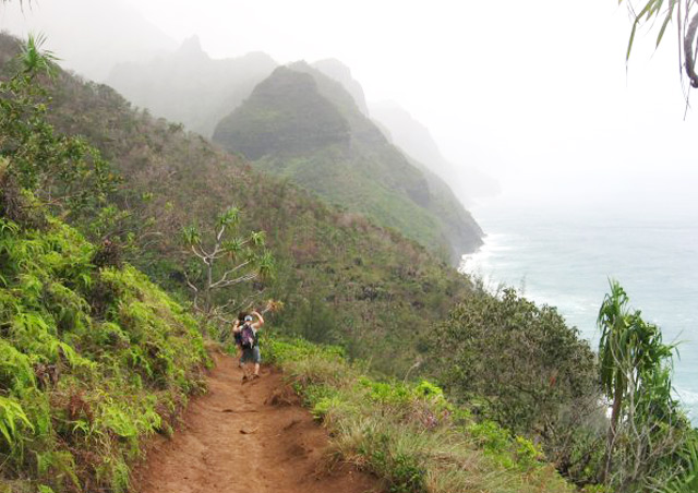 Backpacking for six days along Kauai's northwestern coast.