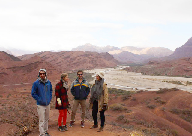 Exploring the desert landscape of northern Argentina with my three siblings.