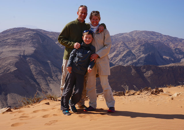 Family trip with Kath and my son Gus in northern Namibia