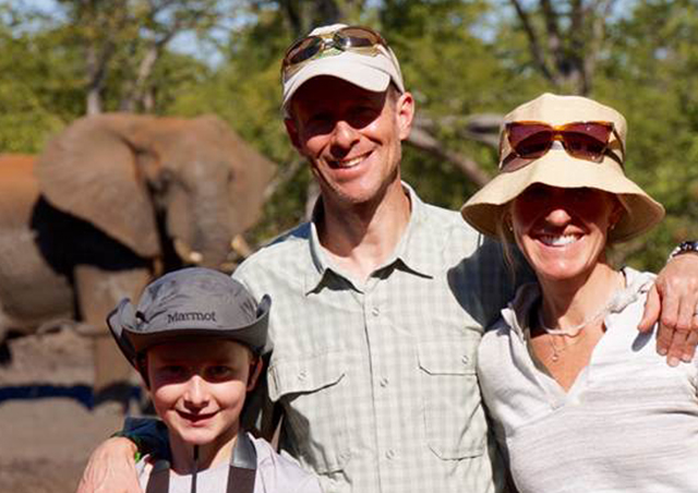 With my son and wife in Zimbabwe in 2016.