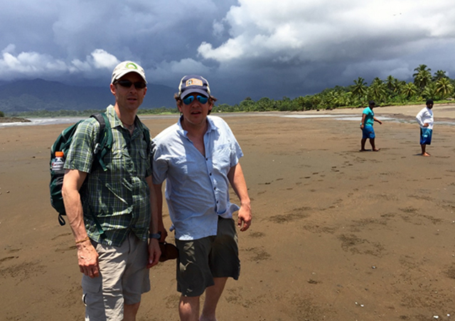 Scouting out a very remote area of Colombia with Mark (on the right) from the Nat Hab office.