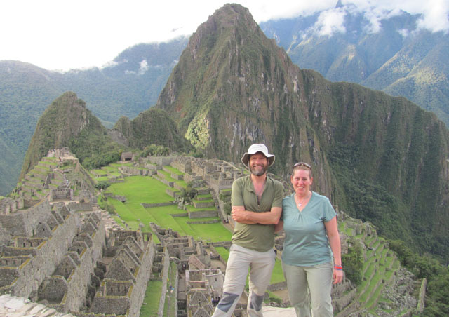 Hiking into Machu Picchu after 4 days, what a reward!