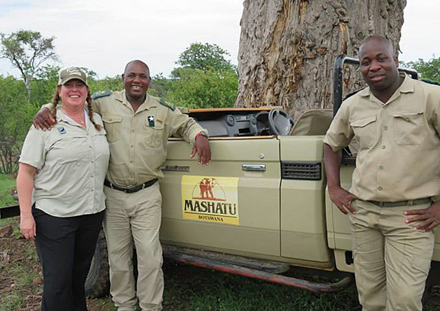 My wonderful guides at Mashatu Safari Camp in Botswana