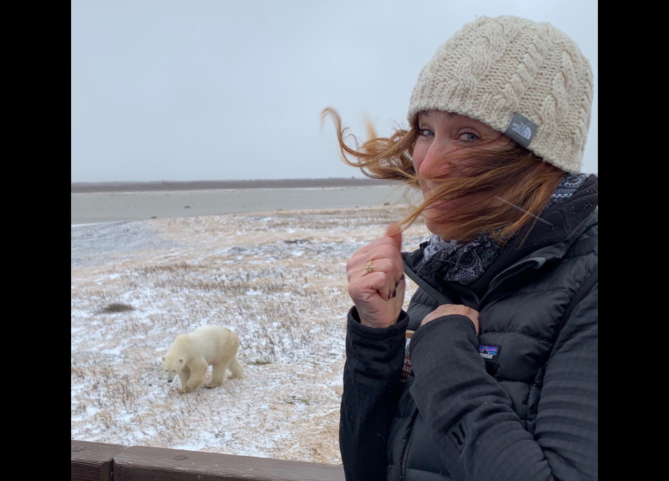 So excited to see polar bears on the tundra with Natural Habitat Adventures in Churchill, Canada.