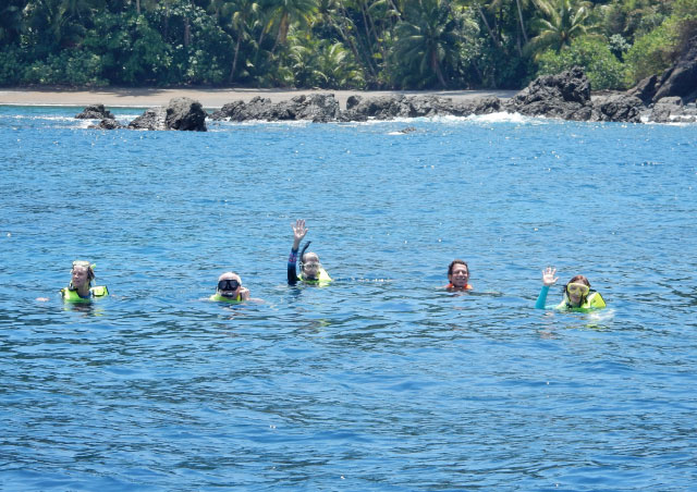 Snorkeling off Isla del Cano in Costa Rica.  Enjoyed swimming with Reef sharks, Hawksbilled turtles, stingrays and tropical fish.