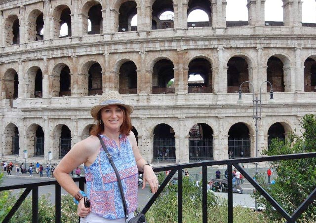 Touring the Roman Colosseum in Rome, Italy in 2016.