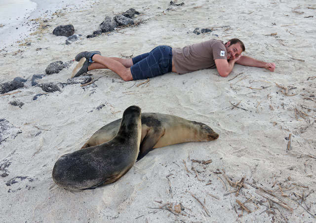 While visiting the Galapagos Islands with Nat Hab I did as the locals do.