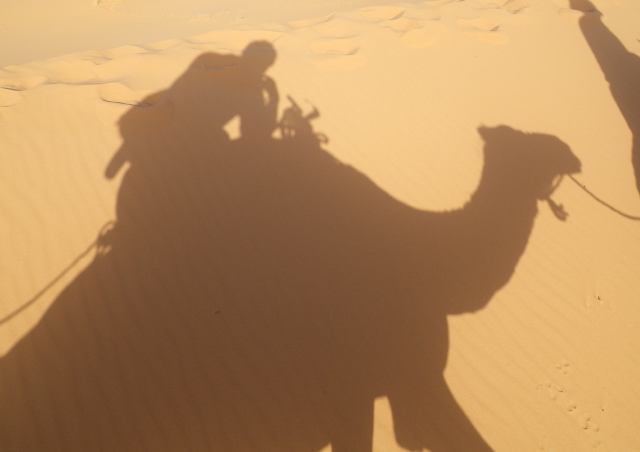 On a camel expedition in the Sahara I found the shadows to provide fascinating photo options.