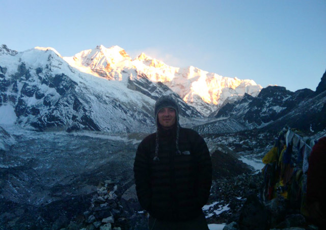 John at Kangchenjunga Base Camp in Sikkim, India
