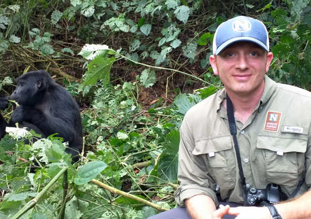 After an incredible 2 hour trek, we came upon the fascinating mountain gorillas of Bwindi Impenetrable Forest.