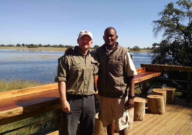 Pelo Camp, Botswana with our topnotch camp manager