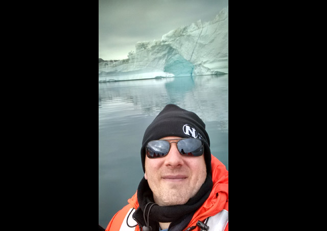 Amongst the icebergs of the Sermilik Fjord in Greenland