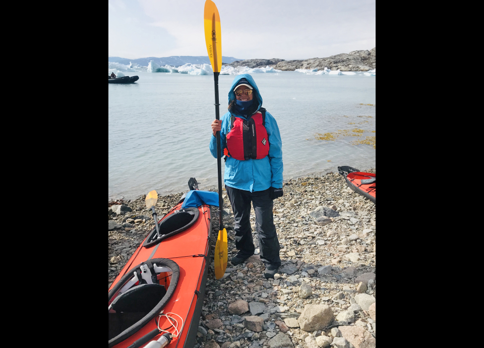 Getting ready for a kayaking outing in Greenland.