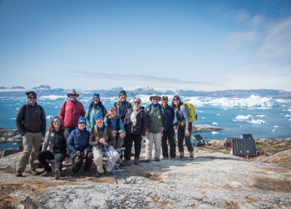 Group shot in Greenland.