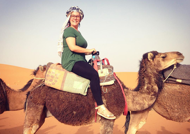 Riding on the back of a camel through the Sahara and sleeping in a Berber tent was my highlight of my trip to Morocco.