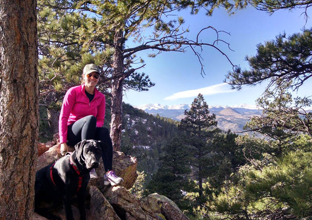 My dog, Hershel, and I love to hike in our backyard of Boulder.