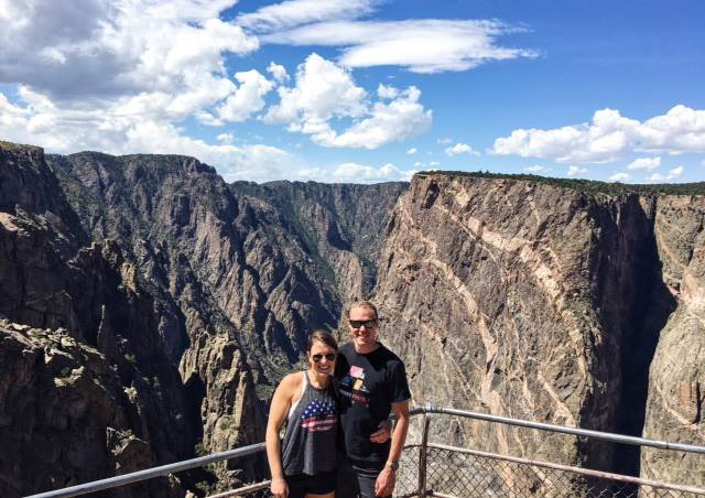 Kendra and her boyfriend Cory took a long weekend to explore some of Colorado's breathtaking features. Here they are at Black Canyon of the Gunnison.