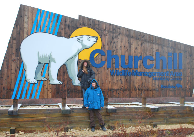 My mom and me in Churchill.