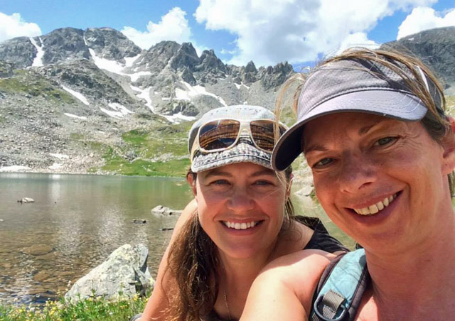 Hiking the great Colorado mountains with fellow Nat Habber Becky