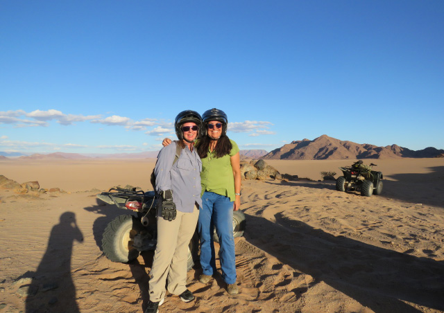 Quad riding in Namibia with Nat Hab's Wendy Klausner