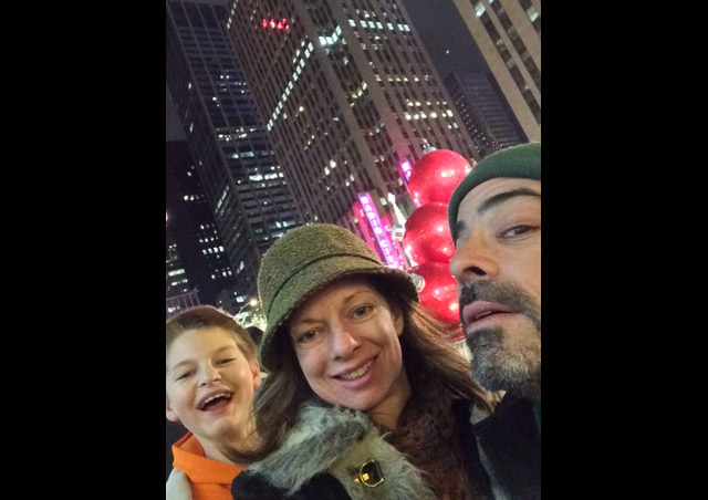 "My family on our traditional ""Eat Our Way Through NYC"" trip."