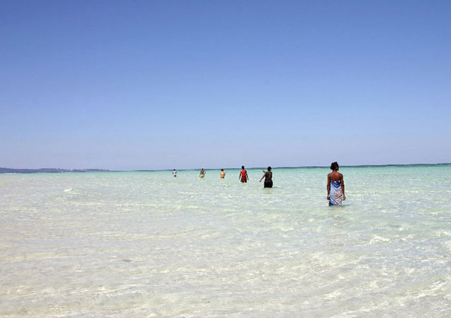 The most magical place - the islands of northern Madagascar's Nosy Be area. Not only did these beaches rival those of the Seychelles and Maldives, there was a local element so authentic and enriching - these women were 'herding' fish into bed sheets.