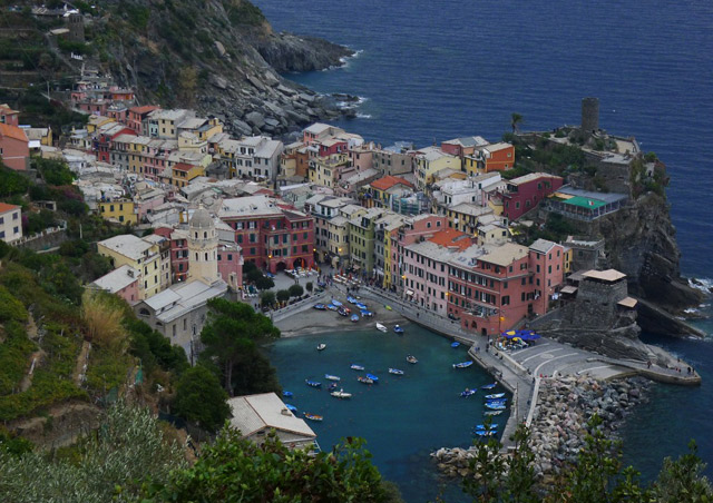 Vernazza, Cinque Terre, Italy. We hiked between two of the five villages here, and this was on approach to Vernazza.