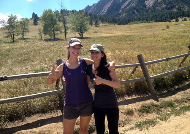 Getting ready to hike with friends at home in Boulder, Colorado!