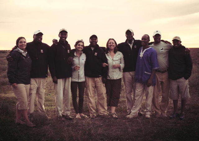 A Tanzanian sundowner with Christy and Shelby from Nat Hab and our fabulous guides!