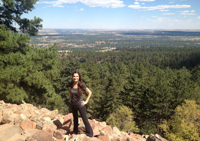 Hiking in Chautauqua at home in Boulder, CO.