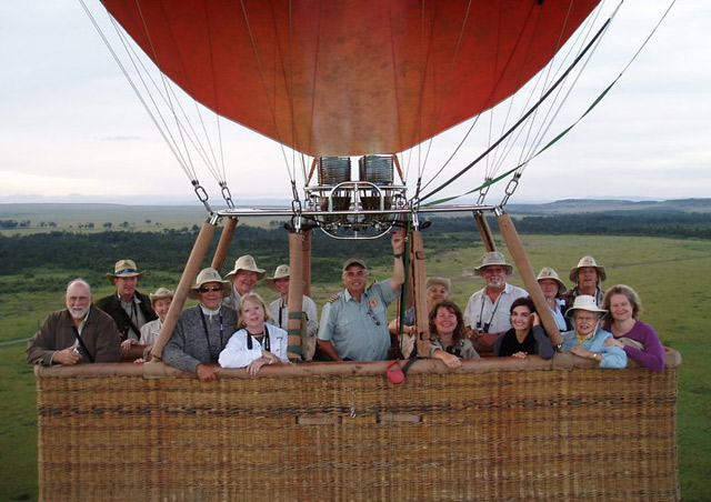 A great balloon flight over the Maasai Mara in Kenya!