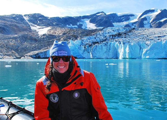 Hann Glacier in the Johan Petersen Fjord, East Greenland