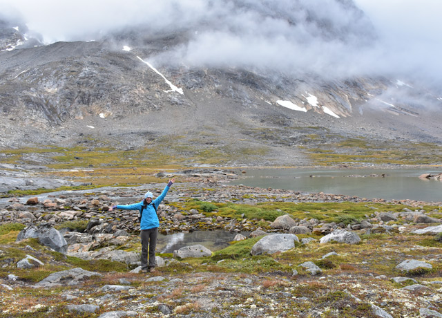 Hiking in the valley above Natural Habitat's Base Camp Greenland