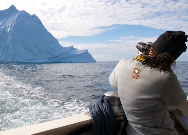 Photographing icebergs near Tasiilaq, in remote East Greenland