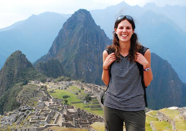 At Machu Picchu in Peru