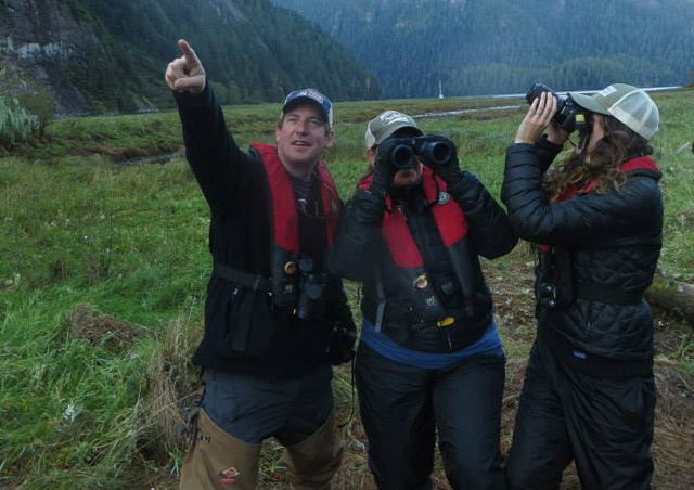 Goofing off and getting the best wildlife viewing photos ever with fellow NHA staff.  British Columbia, Canada.