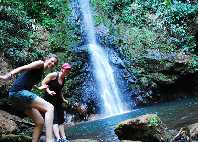 My attempt at getting a self-portrait of my colleague Mandy and I in Costa Rica! This waterfall was over 70 feet high.