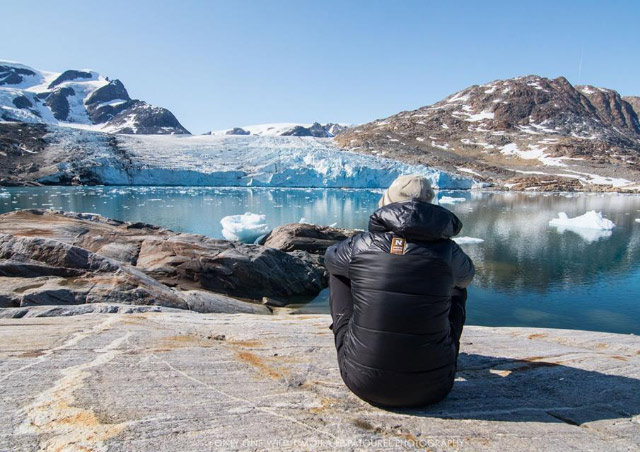 Relaxing during a lunch break during NHA's Discover Greenland trip. Photo Credit: Moira Le Patourel