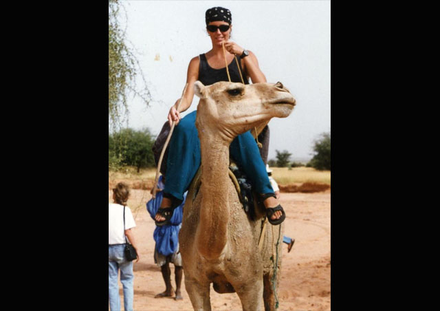 My new best friend! Learning to ride a camel in the Peace Corps Mauritania, West Africa.