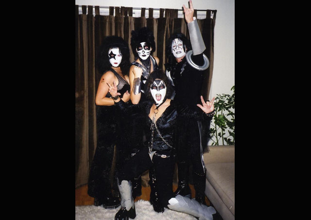 I love celebrating Halloween; it's one of my favorite holidays. My friends and I decided on KISS this year… I'm Paul Stanley.