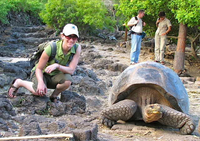 Me and the giant tortoise!!