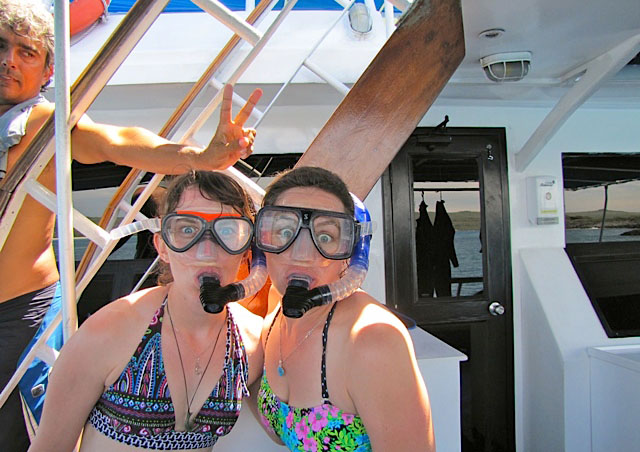 We had a great time snorkeling! Especially when we saw hammerhead sharks and a giant manta ray!!