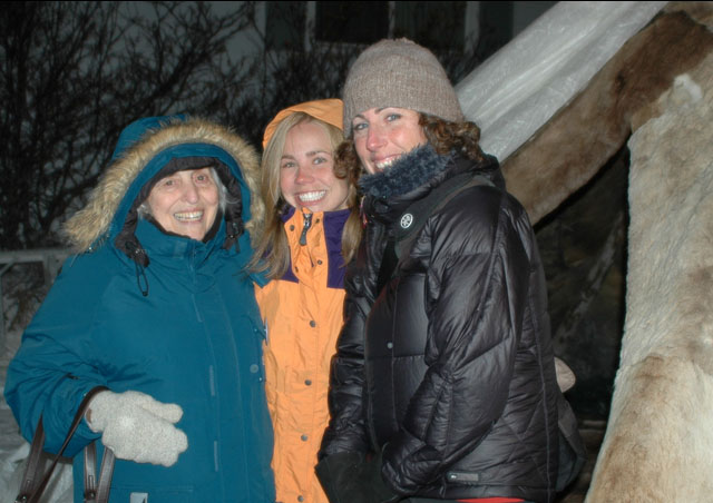 Irene, me & Marcy, fast polar buddies, fighting off the arctic chill.