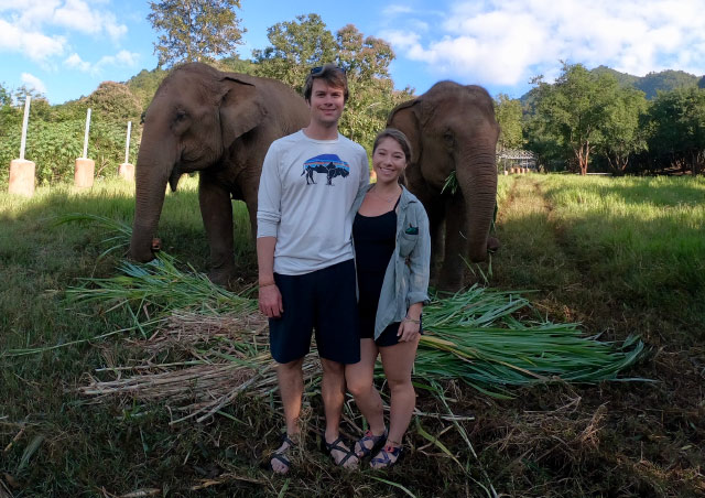 Sarah and Brent celebrated their elopement by visiting the Elephant Nature Park in Chiang Mai, Thailand. Blissful days spent in awe of elephants and other rescued animals.