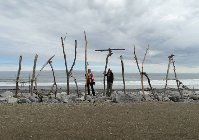 Valerie and me in Hokitika