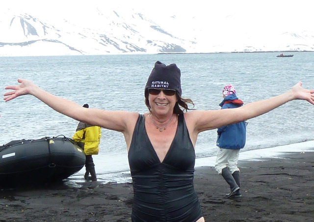 There was no way I was going to be in Antarctica and not do the polar plunge! I was a little anxious and positively out of my comfort zone, but I would do it again in a heartbeat! It felt amazing. Still does!