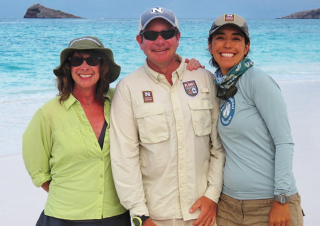 With Nat Hab Amazing Guides, Giancarlo and Josie, Espanola Island